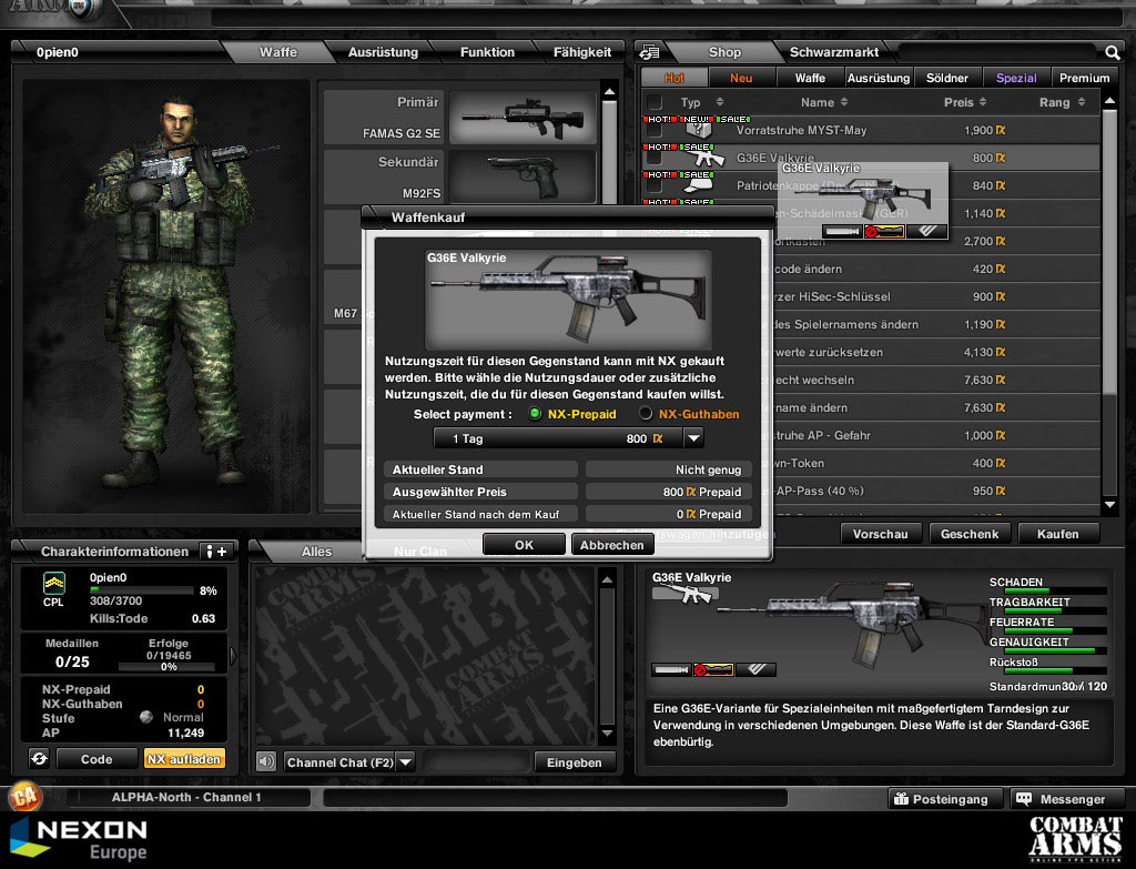 Ego shooten auch auf deutsch combat arms for Nexon client