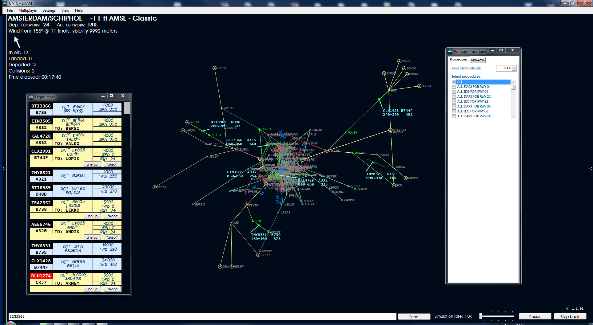 Neue Fluglotsen Simulation Global Air Traffic Control