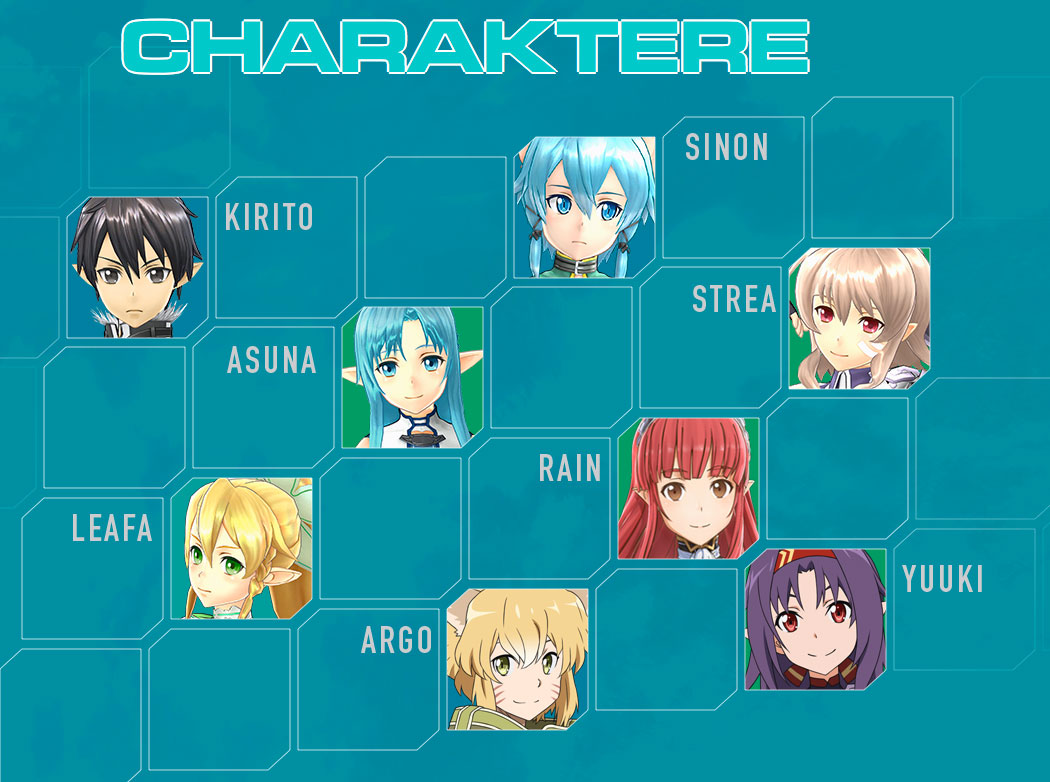 Sword Art Online Lost Song Characters