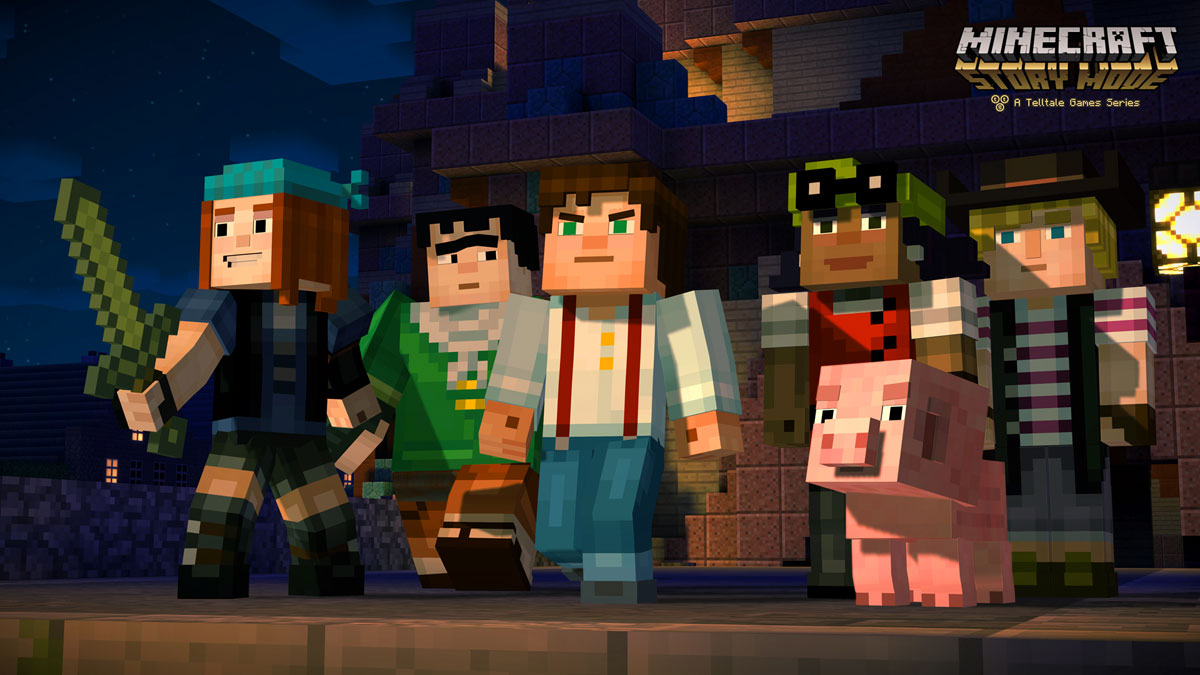 Minecraft Story Mode Jesse and his group