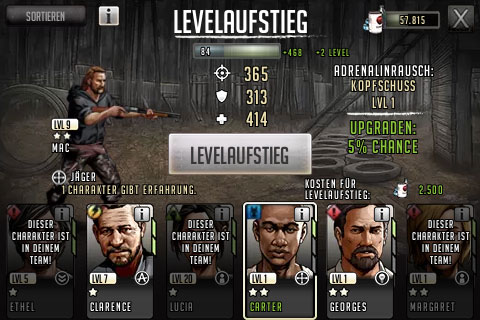 TWD Road to Survival - Adrenalin leveln