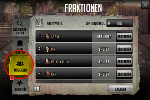 TWD Road to Survival spieletipps fraktion
