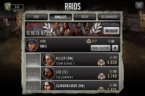TWD Road to Survival spieletipps raids