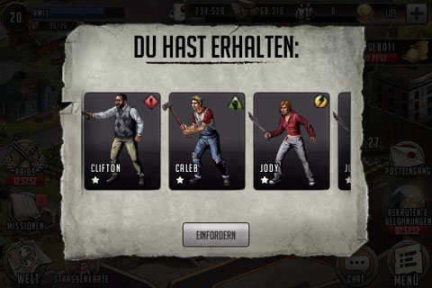 TWD Road to Survival Trainer einsammeln