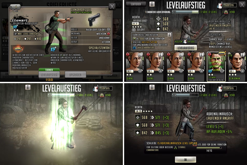 TWD Road to Survival Adrenalinrausch Rollenausbilder
