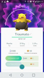 Traumato Pokemon GO Pokedex - alle Pokemon im Überblick