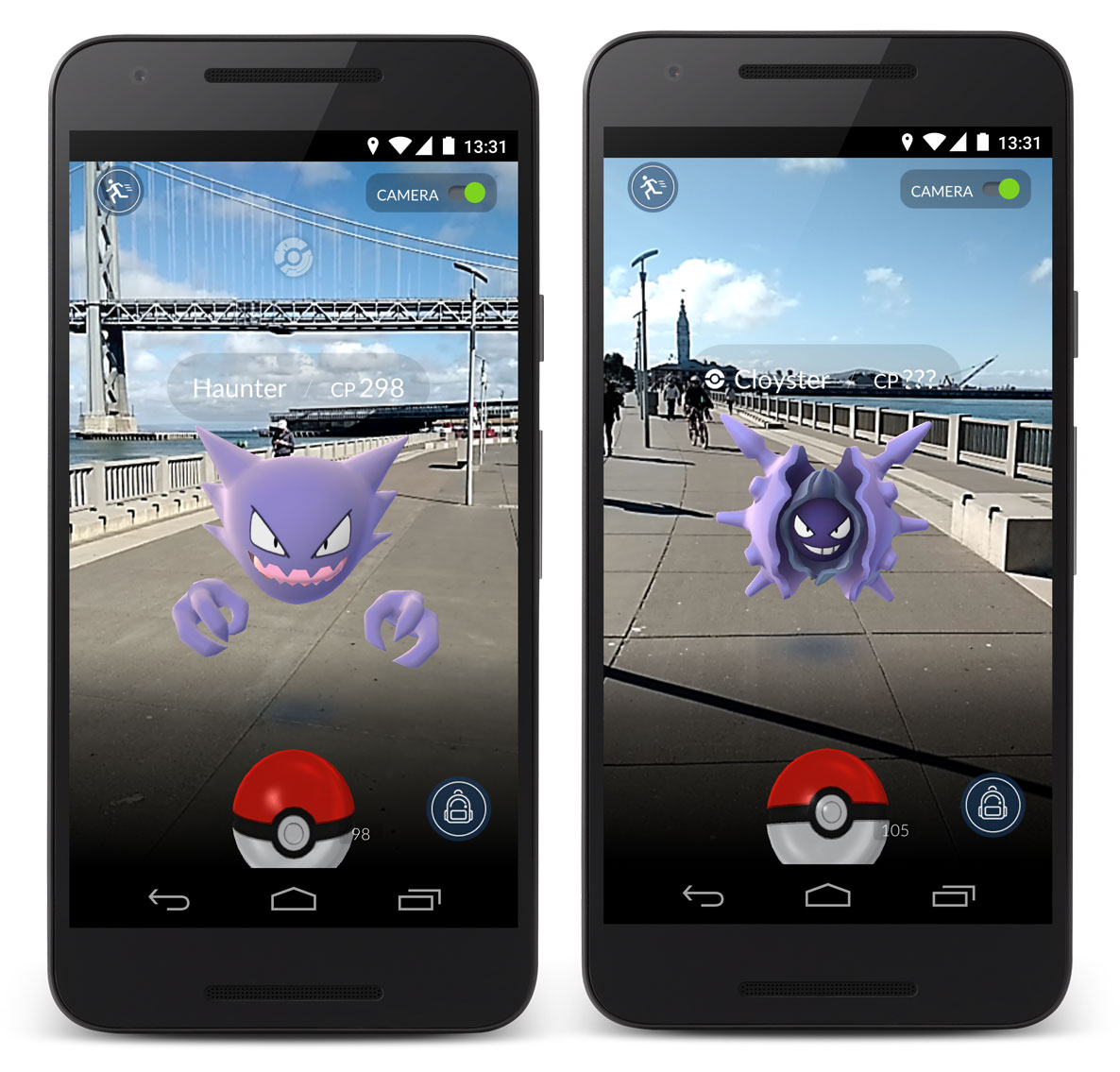 Pokemon GO release Summer 2016 - Camera - Augmented Reality