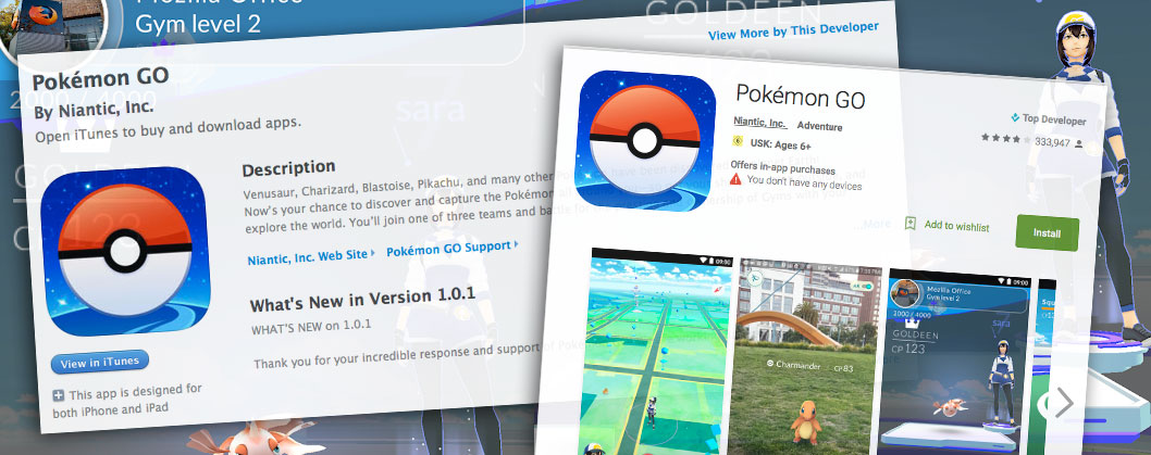 pokemon Go App store google play deutschland