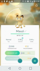 Mauzi PokemonGO Pokedex - alle Pokemon im Überblick