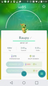 Raupy PokemonGO Pokedex - alle Pokemon im Überblick